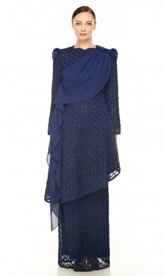Selina Kurung in Dark Blue