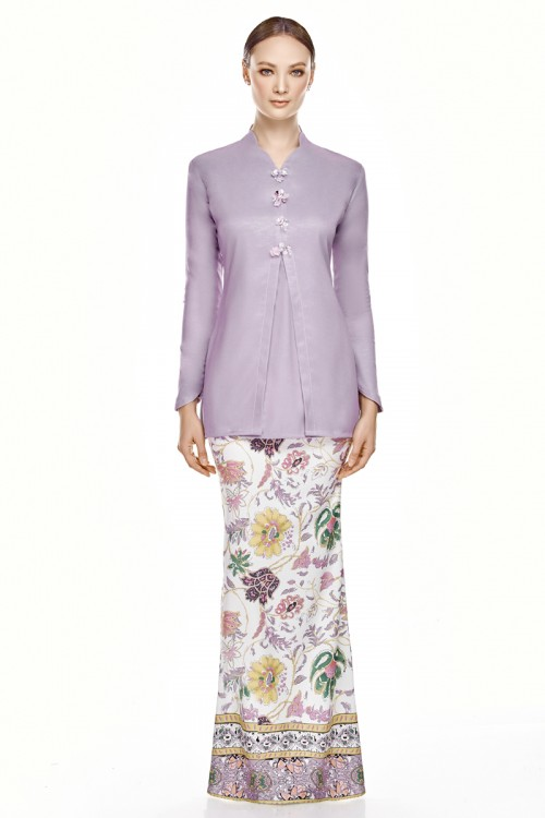 Seenara Kurung in Dusty Purple