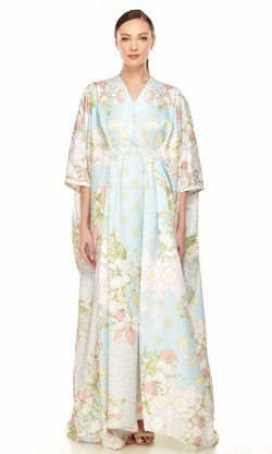 Tharika Kaftan in Baby Blue