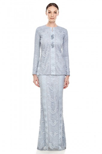 Thea Kurung in Dusty Blue