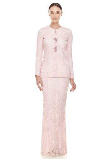 Thea Kurung in Light Pink