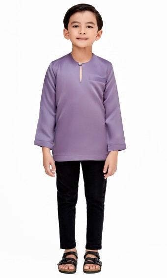 Umar Kurta Kids in Dark Purple