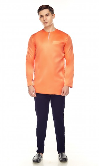 Umar Kurta in Orange Brick