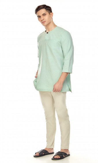 Uthman Kurta in Mint Green