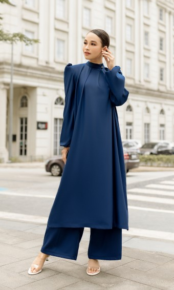 Veronika Tunic & Pants in Navy Blue