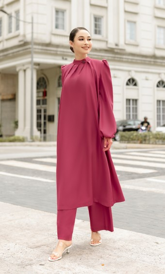 Veronika Tunic & Pants in Red Plum
