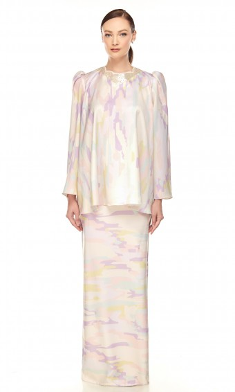 Viorika Kurung in Pastel Purple