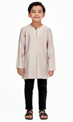 Zeki Kurta Kids in Coffee Brown