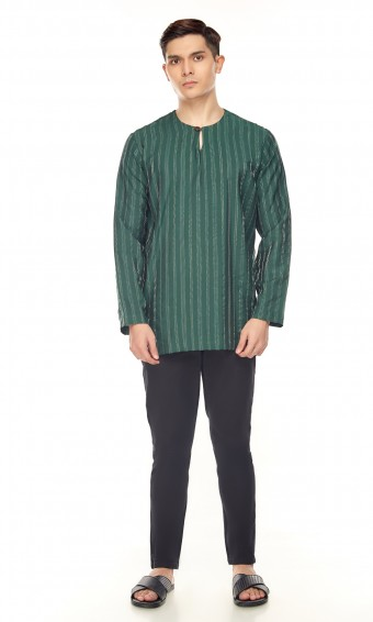 Zeki Kurta in Emerald Green