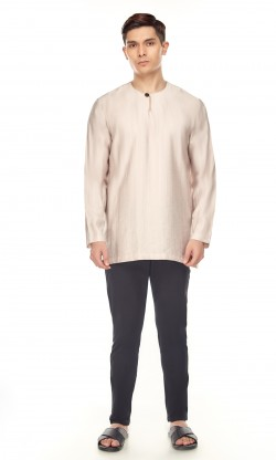 Zeki Kurta in Coffee Brown