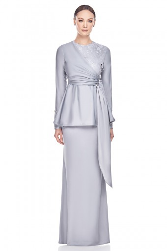 Zelra Kurung in Grey