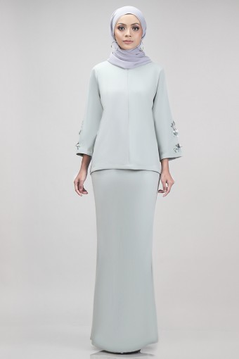 Edith Kurung in Dusty Green