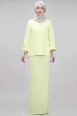 Edith Kurung in Yellow Lemon