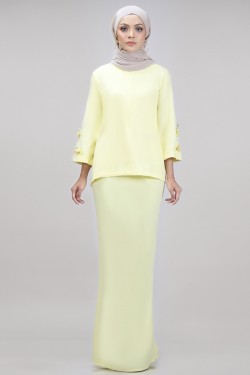 Edith Kurung in Light Yellow