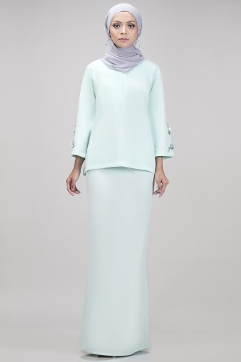 Edith Kurung in Mint Green