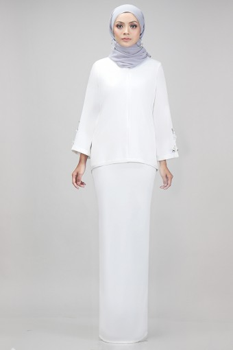 Edith Kurung in White