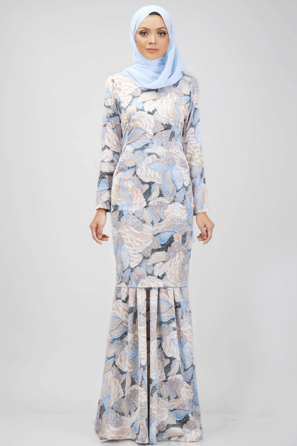 Greta Kurung in Sky Blue