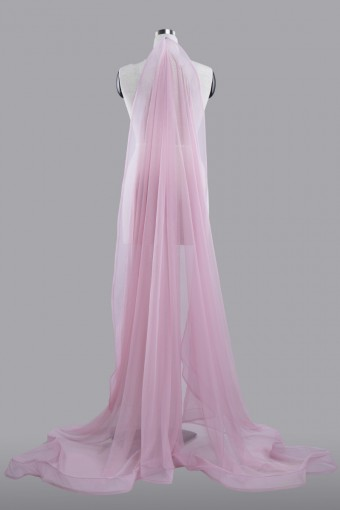 Veil Plain WITH Horsehair in Pink-L