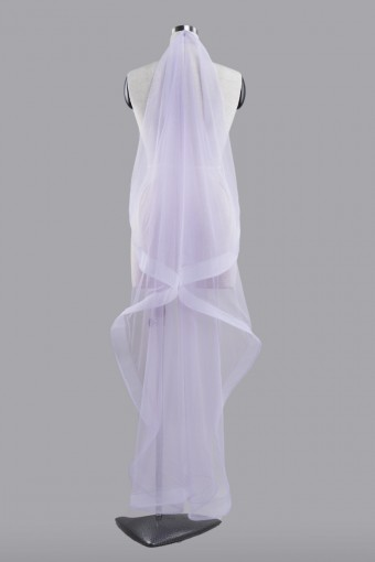 Veil Plain WITH Horsehair in Pastel Purple-S